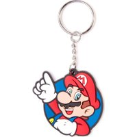 NINTENDO Mario Rubber Keychain - Red & Blue, Red