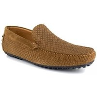 J.bradford  Loafer  Cognac Leather JB-CLIPPER  men's Loafers / Casual Shoes in multicolour