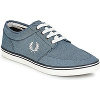 Fred Perry  STRATFORD PRINTED CANVAS  men's Shoes (Trainers) in Blue