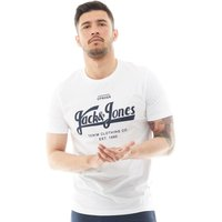 JACK AND JONES Mens Art Logo T-Shirt White