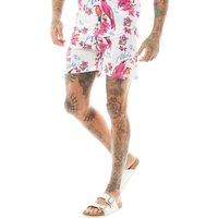 DFND London Mens Twinbirds Swim Shorts White