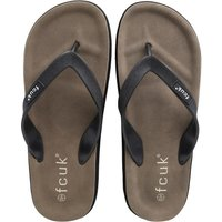 French Connection Mens Flip Flops Black