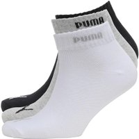 Puma Mens Three Pack Quarter Socks Grey/White/Black