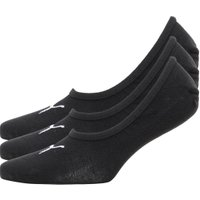 Puma Mens Three Pack Footie Socks Black