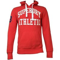 Superdry  Mens Tigers Athletic Hoodie Indiana  men's Sweatshirt in Red