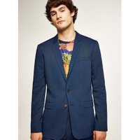 Mens Blue Skinny Suit Jacket, Blue