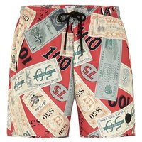 Mens Multi Dollar Print Swim Shorts, Multi