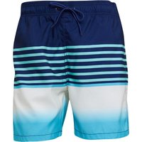 Kangaroo Poo Mens Stripe Detail Swim Shorts Navy/Turquoise