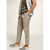 Mens Beige Stone Tapered Smart Trousers, Beige