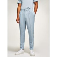 Mens Light Blue Tapered Smart Trousers, Blue