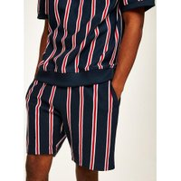 Mens Red And Blue Stripe Jersey Shorts, Blue