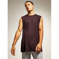 Mens Purple Plum Longline Tank, Purple