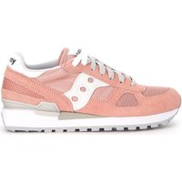 Saucony  Sneaker Shadow in pale pink suede and fabric mesh  men's Shoes (Trainers) in Pink