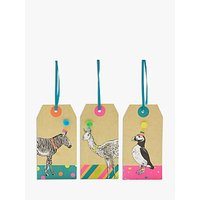 John Lewis & Partners Animal In Party Hats Gift Tags, Pack of 3