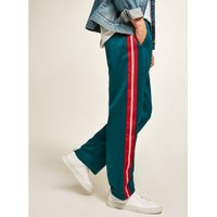Mens Blue Teal Taping Poly Tricot Joggers, Blue