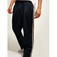 Mens Blue Navy Taping Poly Tricot Joggers, Blue