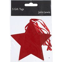 John Lewis & Partners Star Gift Tag, Pack of 5