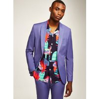 Mens Purple Skinny Blazer, Purple