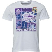 adidas Mens RMCF Real Madrid Club WC Official Winners T-Shirt White