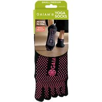 Gaiam No-Slip Yoga Socks, S/M, Black