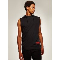 Mens Black Photo Hooded Tank, Black