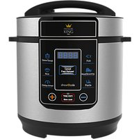 Pressure King Pro 3L Digital Pressure Cooker, Black/Chrome