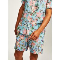 Mens Blue Orchid Pull On Shorts, Blue