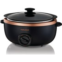 MORPHY RICHARDS Evoke Sear & Stew 461016 Slow Cooker - Black & Rose Gold, Black
