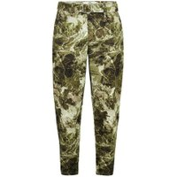 Mens Yellow Sand Camouflage Tapered Trousers, Yellow