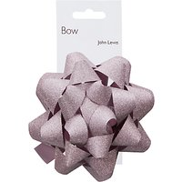 John Lewis & Partners Glitter Bow, Pastel Pink