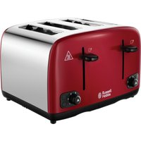 RUSSELL HOBBS Cavendish 24092 4-Slice Toaster - Red, Red