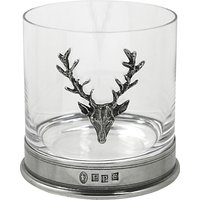 English Pewter Company Single Stag Head Tumbler, Crystal, 13.5oz