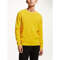Kin Grid Stitch Jumper, Yellow