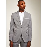 Mens SELECTED HOMME Grey Stripe Blazer, Grey