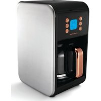 MORPHY RICHARDS Accents 162011 Filter Coffee Machine - Black & Rose Gold, Black