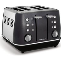 MORPHY RICHARDS Evoke One 4-Slice Toaster - Black, Black
