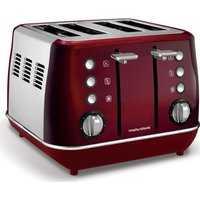 MORPHY RICHARDS Evoke One 4-Slice Toaster - Red, Red