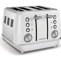 MORPHY RICHARDS Evoke One 4-Slice Toaster - White, White