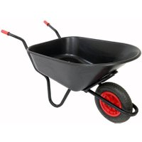 Bullbarrow Mammoth wheelbarrow in black, Black