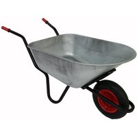 Bullbarrow Mammoth wheelbarrow in silver, Silver
