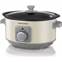 MORPHY RICHARDS Evoke Sear & Stew 460013 Slow Cooker - Cream, Cream