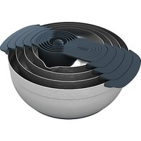 Joseph Joseph 100 Collection Stainless Steel Mixing Bowls and Measuring Cups Nest Set, 9 Pieces
