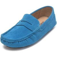 Reservoir Shoes  Moccasins suede look to put on  men's Loafers / Casual Shoes in Blue