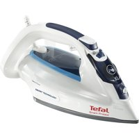 TEFAL Smart Protect FV4980 Steam Iron - White & Blue, White