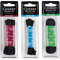 Cherry Blossom Waxed Round 75cm Laces, Black
