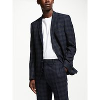 Kin Check Slim Fit Suit Jacket, Navy