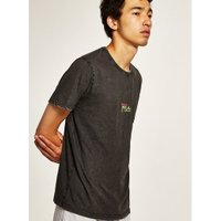 Mens Black 'Tropical' T-Shirt, Black