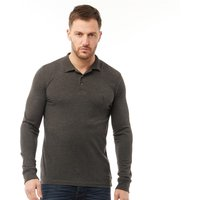 French Connection Mens Jersey Long Sleeve Polo Charcoal Melange