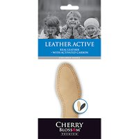 Cherry Blossom Leather Active Insoles, Natural