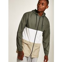 Mens Nicce Khaki Panel Lightweight Jacket, Khaki